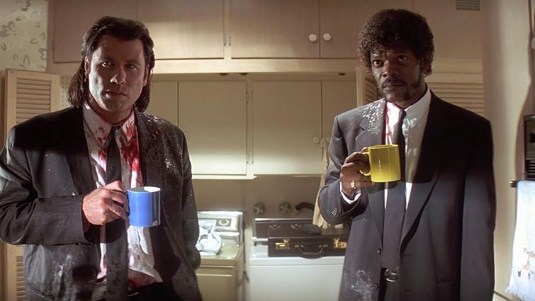 Una guía para los géneros cinematográficos básicos (y cómo usarlos) - John Travolta y Samuel L. Jackson en Pulp Fiction