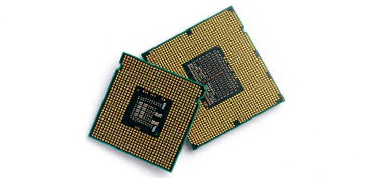 CPU para editar PC: aproximadamente del tamaño de una galleta.