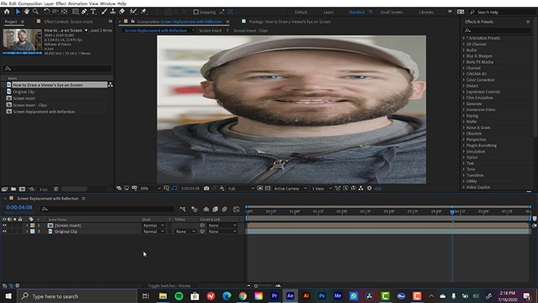 Efecto Pin de esquina en After Effects