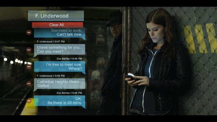 Colocar mensajes de texto junto al actor