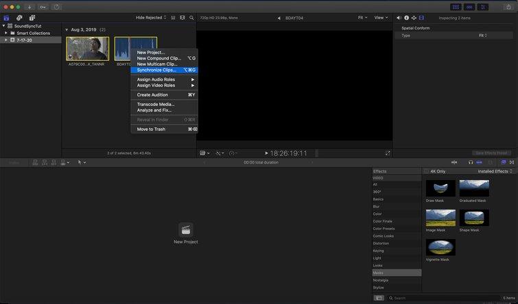 Final Cut Pro X: Sincronizar clips