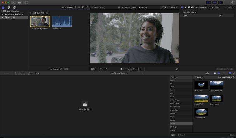 Final Cut Pro X: Importar archivos de audio y video