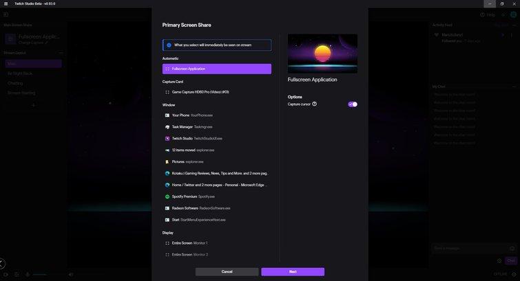 Twitch Studio: configuración de transmisión