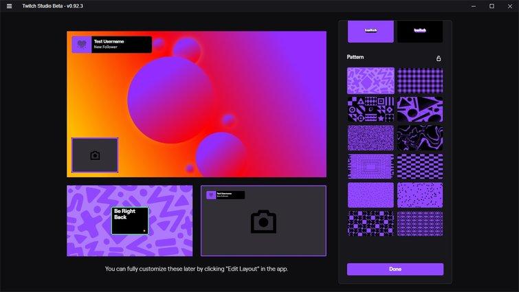 Twitch Studio: diseños