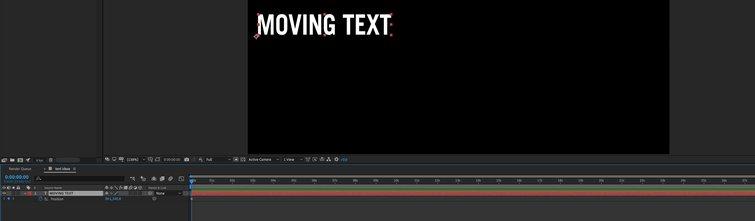 Adobe After Effects: primer fotograma clave