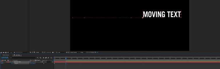 Adobe After Effects: segundo fotograma clave