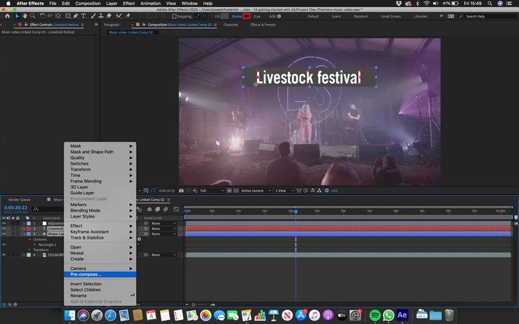 Adobe After Effects: precomposición