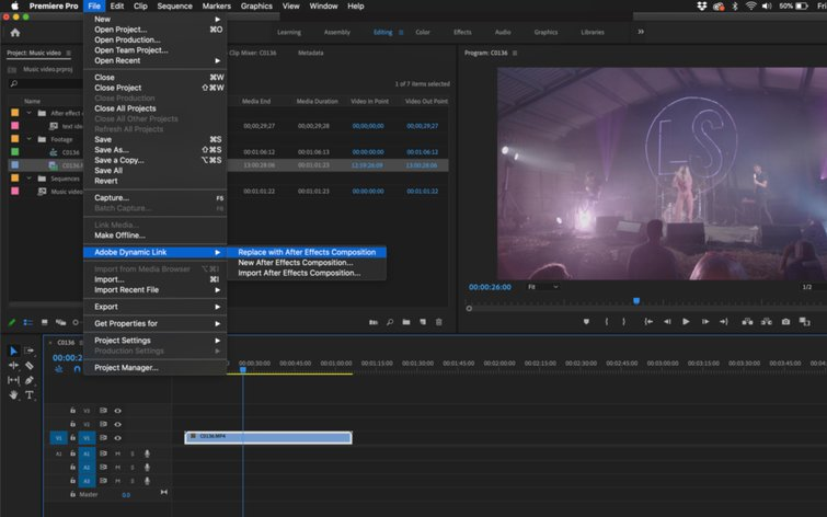 Reemplazar con After Effects