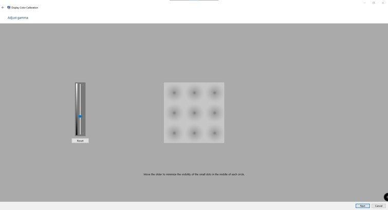 Calibración de monitores con Windows: ajuste el control deslizante