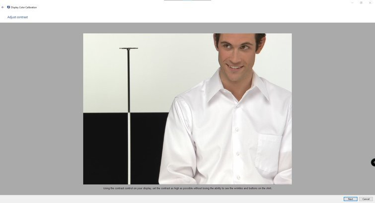 Calibrar monitores con Windows: ajustar el contraste