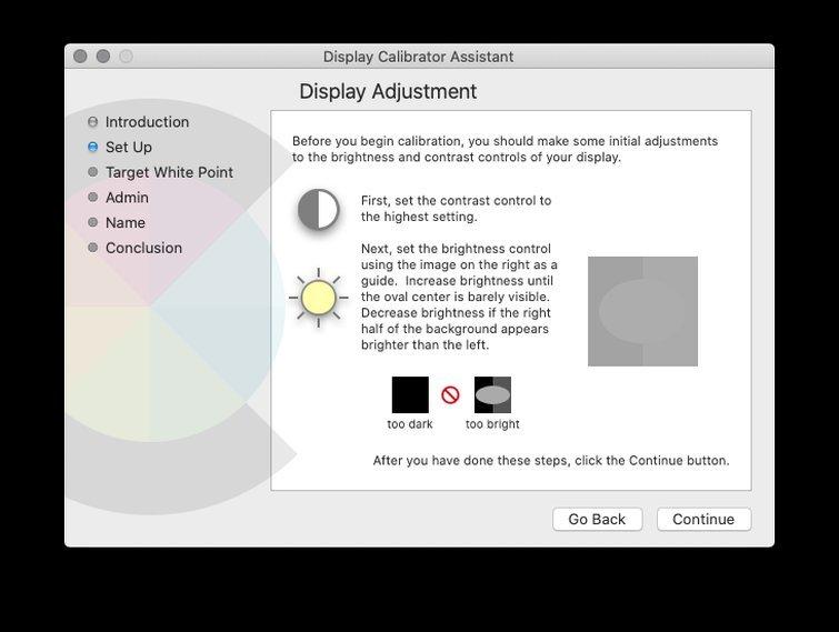 Calibrar con macOS: ajustar el brillo