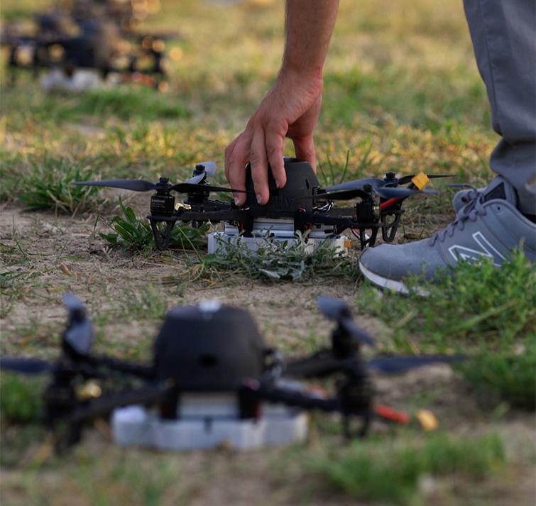 Configuración de vuelo de drones