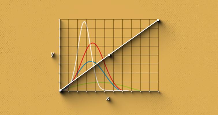Gráfico de curva con tonalidad