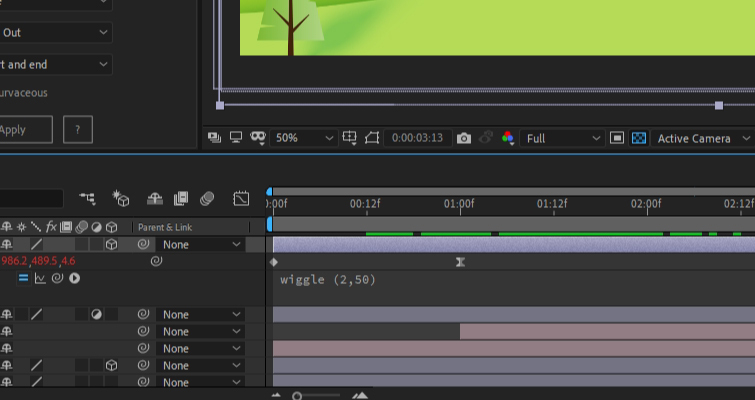 After Effects: modificar Wiggle