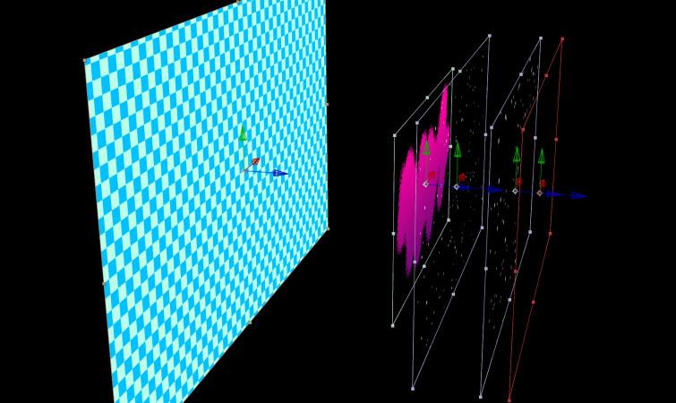 Capas en el espacio 3D