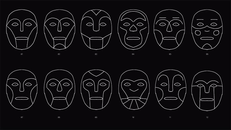 Maquetas y bocetos de caras