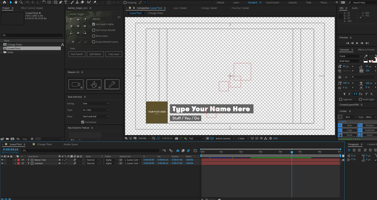 After Effects personalizado