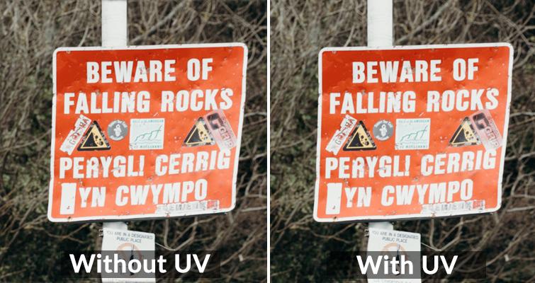 UV comparado