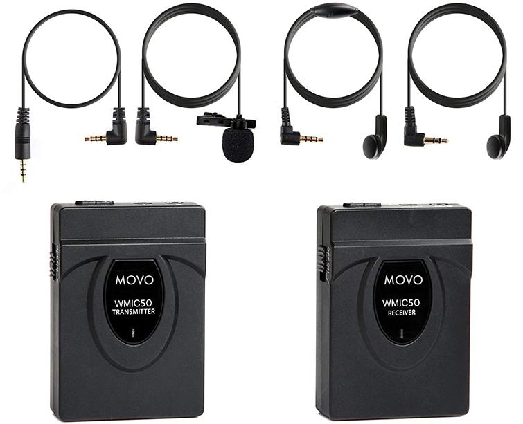 Kit de micrófono Movo WMIC50 Lav