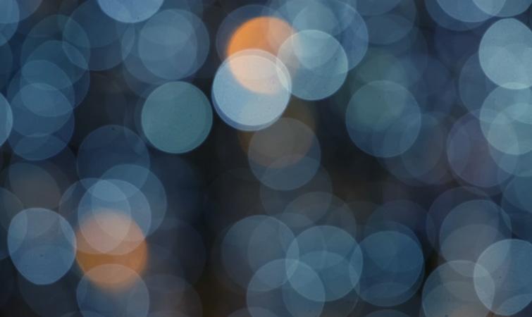 Círculos de luz bokeh